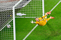 15th November 2020; Leuven, Belgium;   Dries Mertens forward of Belgium (not in the picture) scores against Jordan Pickford goalkeeper of England during the UEFA Nations League match group stage final tournament - League A - Group 2 between Belgium and England