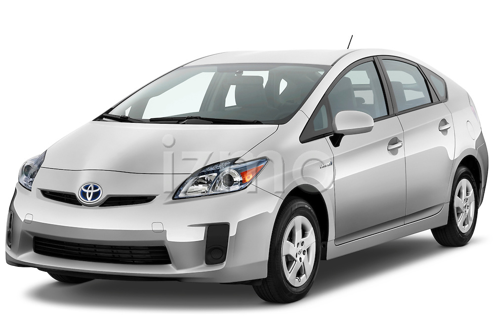 Front three quarter view of a 2012 Toyota Prius 2..