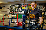 Kevin Cronin from Tralee in the gym preparing for his upcoming boxing fight in March