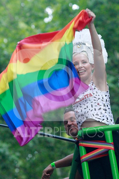 Spanish singer Soraya during the demonstration of World Pride Madrid 2017. July 1, 2017. (ALTERPHOTOS/Acero)