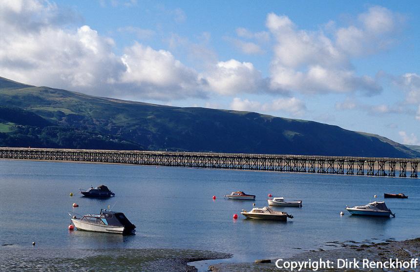 Großbritannien, Wales, Mawddachmündung, Brücke Fairborne-Barmouth