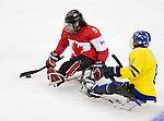 Anthony Gale, Sochi 2014 - Para Ice Hockey // Para-hockey sur glace.<br /> Team Canada takes on Sweden in Para Ice Hockey // Équipe Canada affronte la Suède en para-hockey sur glace. 08/03/2014.