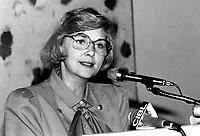 September 18, 1985 File Photo  - Andree Champagne,Minister of State for Youth, Canada and former actress.<br /> <br /> PHOTO : Agence Quebec Presse