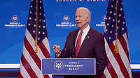 United States President-elect Joe Biden makes remarks following his virtual meeting with the National Governors Association's Executive Committee in Wilmington, Delaware on Thursday, November 19, 2020.  <br /> Credit: Biden  Transition via CNP /MediaPunch