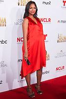 PASADENA, CA, USA - OCTOBER 10: Zoe Saldana arrives at the 2014 NCLR ALMA Awards held at the Pasadena Civic Auditorium on October 10, 2014 in Pasadena, California, United States. (Photo by Celebrity Monitor)