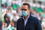 19.09.2020, wohninvest Weserstadion, Bremen, GER,  SV Werder Bremen vs Hertha BSC Berlin, <br /> <br /> <br />  im Bild<br /> <br /> Michael Preetz (Geschäftsführer / Manager Hertha BSC)<br /> <br /> mit CORONA Gesichtsmaske<br /> <br /> Foto © nordphoto / Kokenge<br /> <br /> DFL regulations prohibit any use of photographs as image sequences and/or quasi-video.