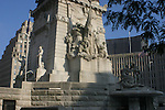 The Indiana State Soldiers and Sailors Monument is a 284 ft 6 in (86.72 m) neoclassical monument built on Monument Circle, a circular, brick-paved street that intersects Meridian and Market streets in the center of downtown Indianapolis, Indiana. The monument is the first in the United States to be dedicated to the common soldier. It is also the largest outdoor memorial and the largest of its kind in Indiana. It was designed by German architect Bruno Schmitz and built over a thirteen-year period, between 1888 and 1901. The monument's original purpose was to honor Hoosiers who were veterans of the American Civil War; however, it is also a tribute to Indiana's soldiers who served during the American Revolutionary War, territorial conflicts that partially led to the War of 1812, the Mexican-American War, and the Spanish-American War. In the years since its public dedication on May 15, 1902, the monument has become an iconic symbol of Indianapolis, the state capital of Indiana. It was added to the National Register of Historic Places on February 13, 1973.