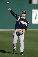 February 26, 2010:  Shortstop Mick Doyle of the Notre Dame Fighting Irish during the Big East/Big 10 Challenge at Jack Russell Stadium in Clearwater, FL.  Photo By Mike Janes/Four Seam Images