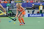 The Hague, Netherlands, June 14: Frederique Derkx #2 of The Netherlands in action during the field hockey gold medal match (Women) between Australia and The Netherlands on June 14, 2014 during the World Cup 2014 at Kyocera Stadium in The Hague, Netherlands. Final score 2-0 (2-0)  (Photo by Dirk Markgraf / www.265-images.com) *** Local caption ***