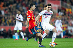Spain's Sergio Busquets and Norway's Markus Henriksen  during the qualifying match for Euro 2020 on 23th March, 2019 in Valencia, Spain. (ALTERPHOTOS/Alconada)