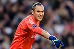 Goalkeeper Keylor Navas of Real Madrid gestures during the UEFA Champions League 2017-18 quarter-finals (2nd leg) match between Real Madrid and Juventus at Estadio Santiago Bernabeu on 11 April 2018 in Madrid, Spain. Photo by Diego Souto / Power Sport Images