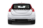 Straight rear view of a 2015 Volvo V60 T5 Drive-E FWD Door wagon Rear View  stock images