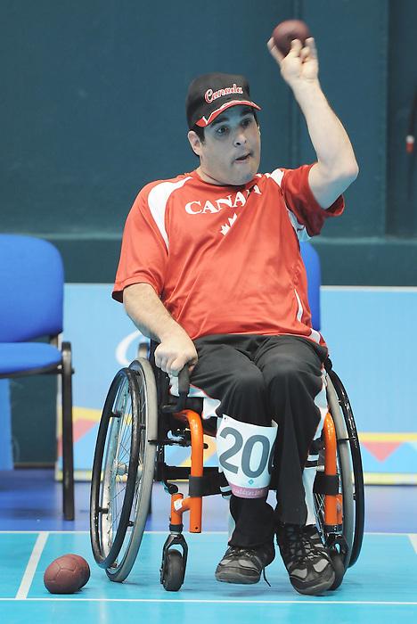 David Richer, Guadalajara 2011 - Boccia.<br /> David Richer during a Boccia match // David Richer lors d'un match de boccia. 11/14/2011.