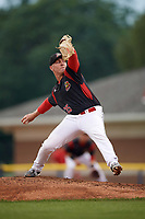 Batavia Muckdogs starting pitcher Ryan Lillie (35) delivers a pitch during a game against the Williamsport Crosscutters on August 3, 2017 at Dwyer Stadium in Batavia, New York.  Williamsport defeated Batavia 2-1.  (Mike Janes/Four Seam Images)