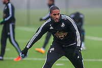 Thursday  21 January 2016<br /> Pictured: Ashley Williams of Swansea in action during training <br /> Re: Swansea City Training Session at the Fairwood training ground