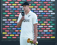 Kyle Jamieson, New Zealand nominated player of the match during India vs New Zealand, ICC World Test Championship Final Cricket at The Hampshire Bowl on 23rd June 2021
