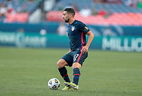DENVER, CO - JUNE 3: Sebastian Lletget #17 of the United States turns with the ball during a game between Honduras and USMNT at EMPOWER FIELD AT MILE HIGH on June 3, 2021 in Denver, Colorado.