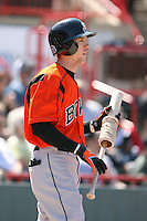 April 22nd, 2007:  Jeff Fiorentino of the Bowie Baysox, Class-AA affiliate of the Baltimore Orioles at Jerry Uht Park in Erie, PA.  Photo by:  Mike Janes/Four Seam Images