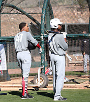 Christian Moore (left) and Isaac Hawthorne (right)  participate in the 2020 MLB Dream Series on January 17-20, 2020 at the Los Angeles Angels training complex in Tempe, Arizona (Bill Mitchell)