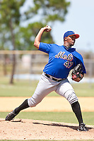 Daniel Carela of the Gulf Coast League Mets during the game against the Gulf Coast League Nationals June 27 2010 at the Washington Nationals complex in Viera, Florida.  Photo By Scott Jontes/Four Seam Images