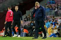 20th September 2021; Nou Camp, Barcelona, Spain; La Liga football league;  FC Barcelona versus Granada;   Ronald Koeman manager of Barca deep in thought as his team lag behind in goals