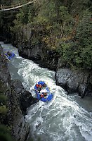 White Water Rafting on Six Mile Creek, Kenai Peninsula, Alaska.