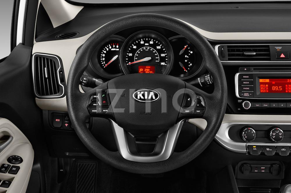 Car pictures of steering wheel view of a 2017 KIA Rio LX-AT 4 Door Sedan Steering Wheel