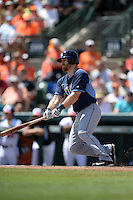 Tampa Bay Rays infielder Logan Forsythe (11) during a Spring Training game against the Baltimore Orioles on March 14, 2015 at Ed Smith Stadium in Sarasota, Florida.  Tampa Bay defeated Baltimore 3-2.  (Mike Janes/Four Seam Images)