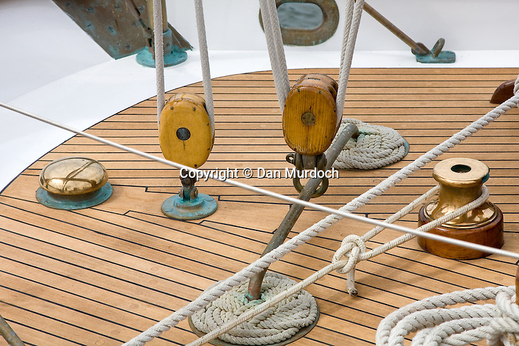 rigging on classic sailboat