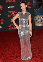 """Billie Lourd at the world premiere for """"Star Wars: The Last Jedi"""" at the Shrine Auditorium. Los Angeles, USA 09 December  2017<br /> Picture: Paul Smith/Featureflash/SilverHub 0208 004 5359 sales@silverhubmedia.com"""