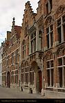17th century Canal Houses, Sint-Annarei, Bruges, Brugge, Belgium