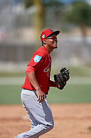 St. Louis Cardinals third baseman Rayder Ascanio (28) during a Minor League Spring Training Intrasquad game on March 28, 2019 at the Roger Dean Stadium Complex in Jupiter, Florida.  (Mike Janes/Four Seam Images)