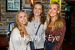 Enjoying the evening in the Tatler Jack's in Killarney on Saturday, l to r: Sophie Haugh (Limerick), Aoife Dennehy (Kilkenny) and Katie O'Leary (Killorglin).