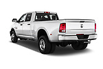 Car pictures of rear three quarter view of 2018 Ram Ram 3500 Tradesman Crew Cab Long 4 Door Pick Up angular rear
