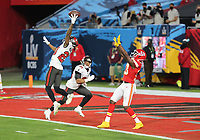 7th February 2021, Tampa Bay, Florida, USA;  Tampa Bay Buccaneers Cornerback Sean Murphy-Bunting (23) breaks up a pass in the end zone intended for Kansas City Chiefs Wide Receiver Byron Pringle (13) during Super Bowl LV between the Kansas City Chiefs and the Tampa Bay Buccaneers on February 07, 2021, at Raymond James Stadium