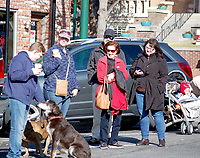 Marc Hayot/Herald Leader A group of people waits for the 2019 Veterans Day Parade to start.
