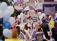 """The coronation of Queen Aimee Bridgett of Newark. <br /> <br /> """" She comes to school with a smile on her face and is friendly and helpful."""""""