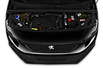 Car stock 2020 Peugeot Partner Premium Long 4 Door Car van engine high angle detail view