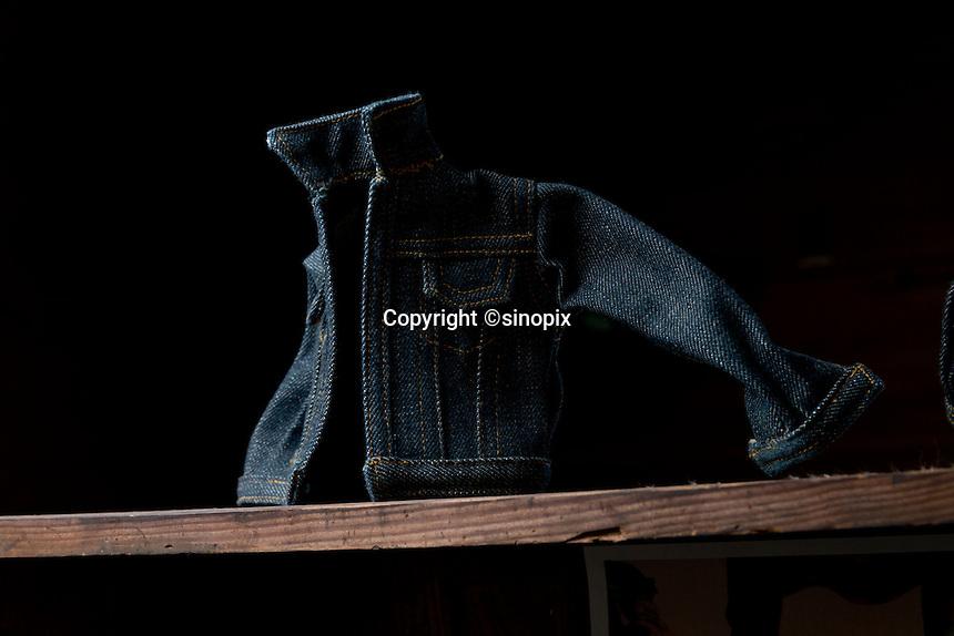 MAY 16, 2014 - KOJIMA, KURASHIKI, JAPAN: Betty Smith CO., Jeans company's Jeans Museum.  (Photograph / Ko Sasaki)