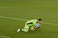 ST PAUL, MN - NOVEMBER 4: Bobby Shuttleworth #1 of Chicago Fire FC makes a save during a game between Chicago Fire and Minnesota United FC at Allianz Field on November 4, 2020 in St Paul, Minnesota.