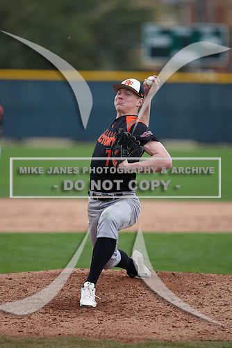 Pearce Howard (7) of Liberty Christian Academy High School in Lynchburg, Virginia during the Under Armour All-American Pre-Season Tournament presented by Baseball Factory on January 15, 2017 at Sloan Park in Mesa, Arizona.  (Kevin C. Cox/Mike Janes Photography)