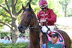 July 11, 2015: Delaware Oaks contender Peace and War, John Velazquez up. Calamity Kate, Edgar Prado up, wins the Grade III Delaware Oaks, one and one sixteenth miles for 3 year old fillies at Delaware Park in Stanton DE. Trainer is Kelly Breen. Joan Fairman Kanes/ESW/CSM