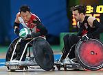 Cody Caldwell, Rio 2016 - Wheelchair Rugby // Rugby En Fauteuil roulant.<br /> Canada vs Japan in the Wheelchair Rugby bronze medal final // Le Canada contre le Japon dans la finale pour la médaille de bronze du rugby en fauteuil roulant. 18/09/2016.