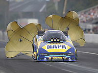 Sep 27, 2020; Gainesville, Florida, USA; NHRA funny car driver Ron Capps during the Gatornationals at Gainesville Raceway. Mandatory Credit: Mark J. Rebilas-USA TODAY Sports