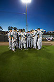 Siena Saints  during a game against the UCF Knights on February 17, 2017 at UCF Baseball Complex in Orlando, Florida.  UCF defeated Siena 17-6.  (Mike Janes/Four Seam Images)