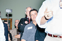 """Texas senator and Republican presidential candidate Ted Cruz speaks to attendees at an event called """"Smoke a cigar with Ted Cruz"""" at a house party at the home of Linda & Steven Goddu Salem, New Hampshire."""