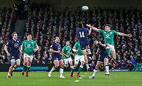 Saturday 1st February 2020 | Ireland vs Scotland<br /> <br /> Jacob Stockdale during the 2020 6 Nations Championship   clash between Ireland and Scotland at he Aviva Stadium, Lansdowne Road, Dublin, Ireland. Photo by John Dickson / DICKSONDIGITAL