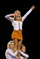 04 November 2006: Texas cheerleaders lead a cheer during the Longhorns 36-10 victory over the Oklahoma State University Cowboys at Darrel K Royal Memorial Stadium in Austin, Texas.