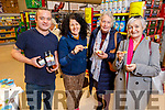 Sampling the delights of Chef Rory McCarthy's food at the Garveys Supervalu Castleisland's Food Fair on Tuesday.  <br /> L to r: Rory McCarthy (Camino Bistro), Margaret O'Leary (Gueeneguilla), Betty Walsh (Castleisland), and Breda Galway (Castleisland)