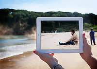 Pictured: Barafundle Bay in Pembrokeshire where scenes of the film Third Star were filmed.<br />